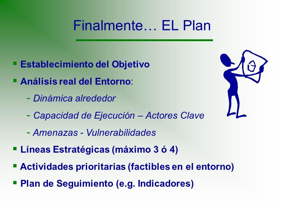Finalmente… EL Plan Establecimiento del Objetivo