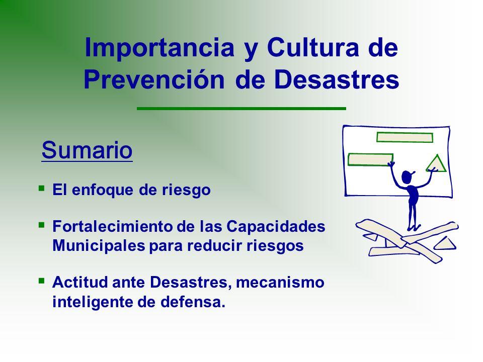 Importancia y Cultura de Prevención de Desastres
