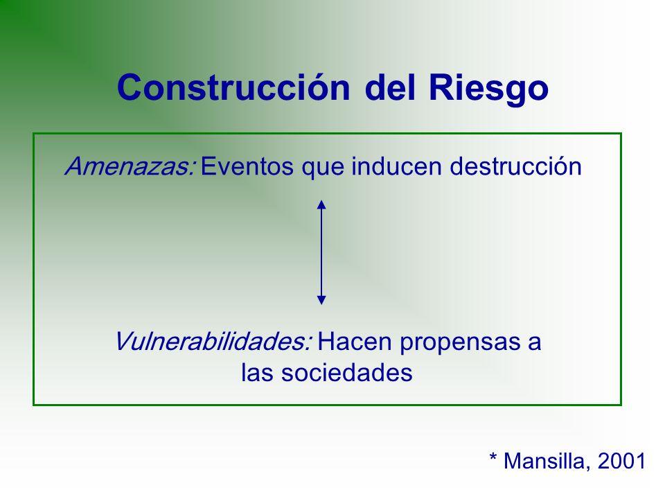 Construcción del Riesgo