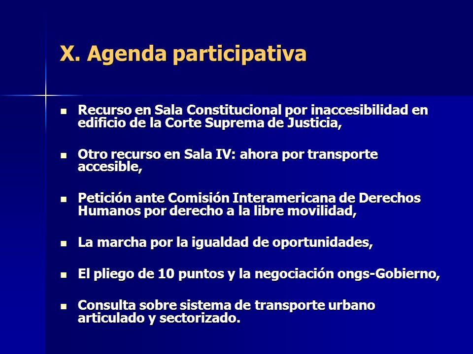 X. Agenda participativa