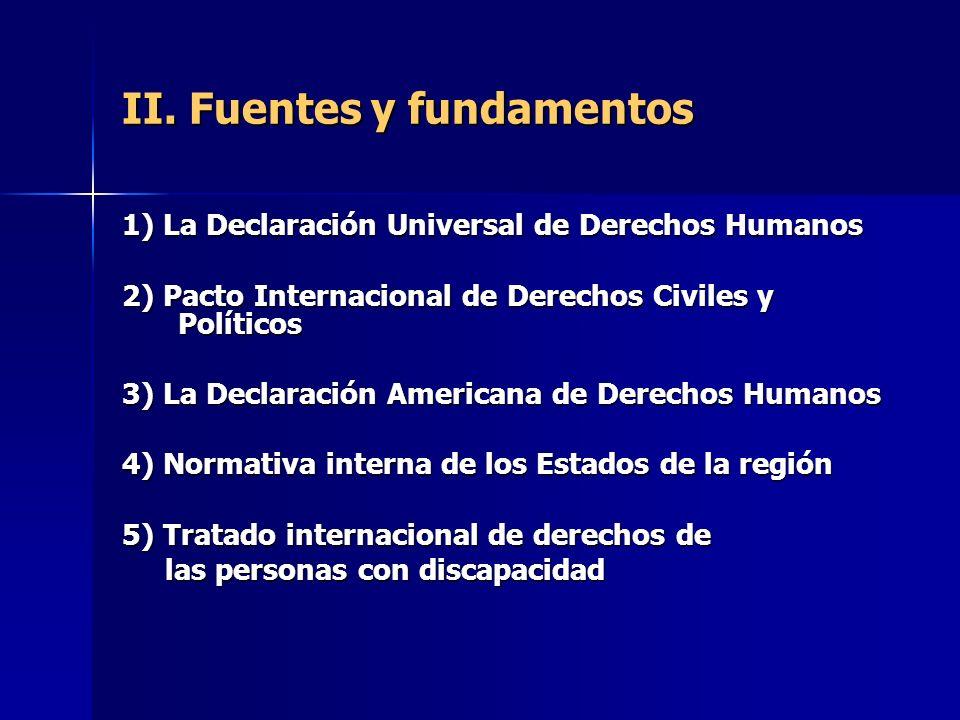 II. Fuentes y fundamentos