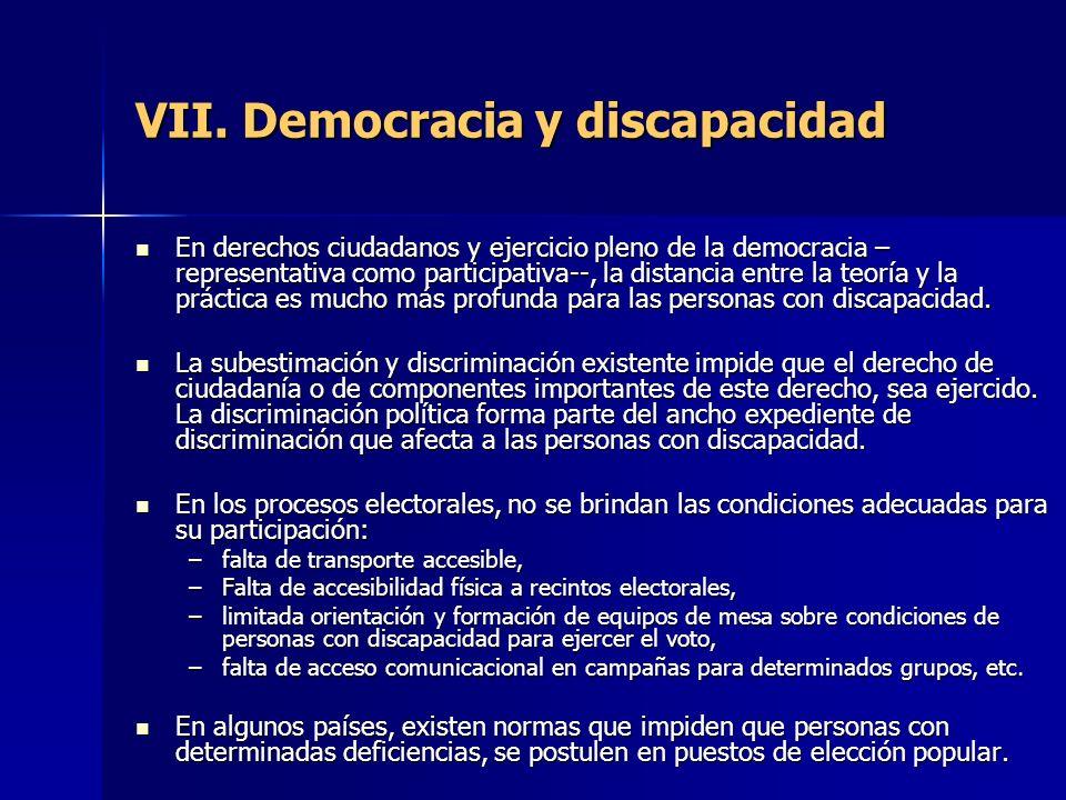 VII. Democracia y discapacidad
