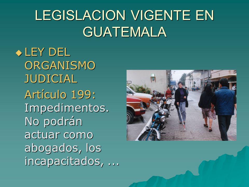 LEGISLACION VIGENTE EN GUATEMALA