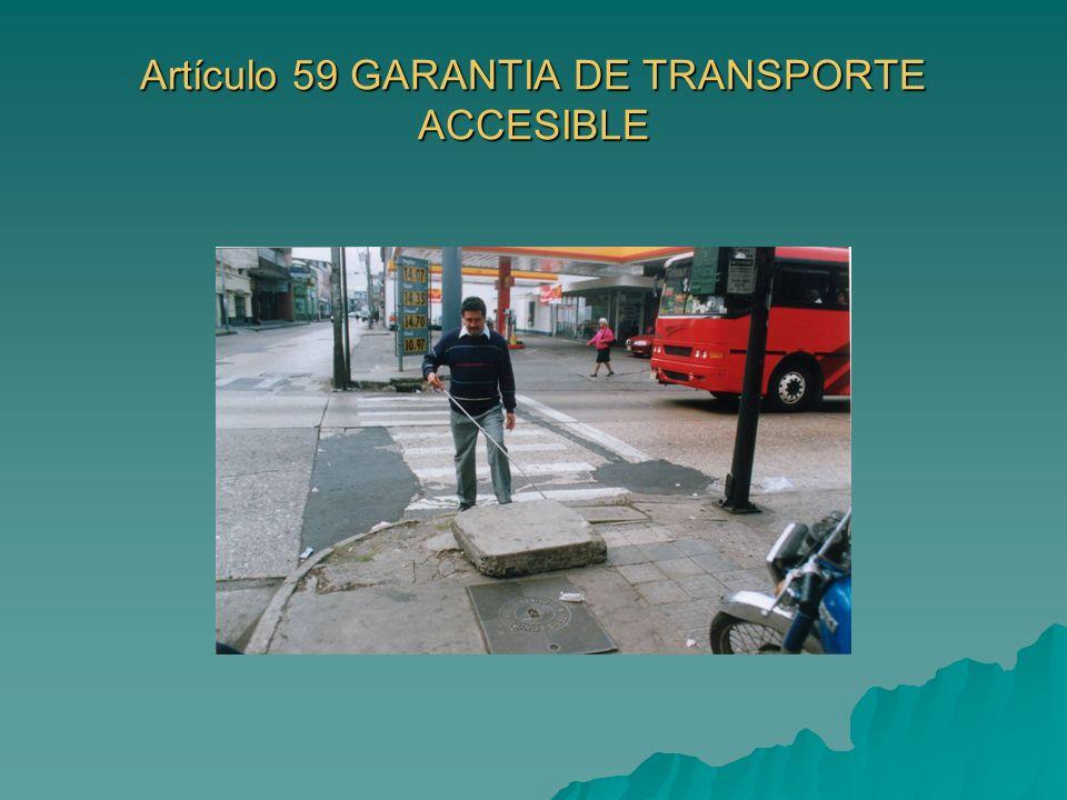 Artículo 59 GARANTIA DE TRANSPORTE ACCESIBLE