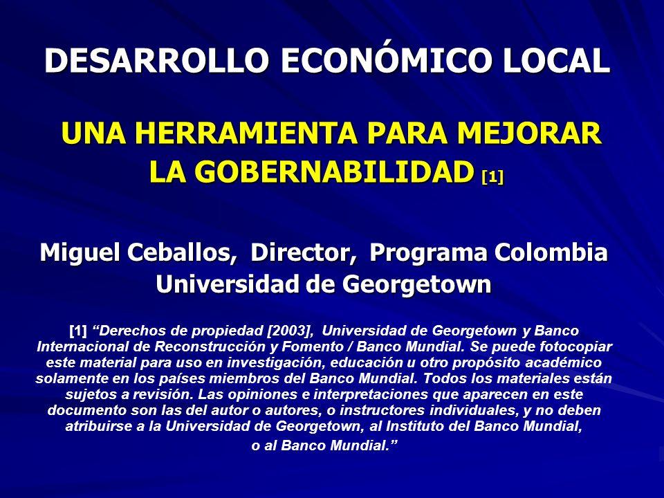 Miguel Ceballos, Director, Programa Colombia Universidad de Georgetown