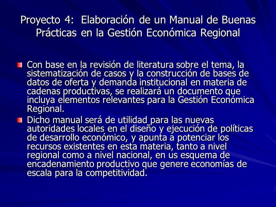 Proyecto 4: Elaboración de un Manual de Buenas Prácticas en la Gestión Económica Regional
