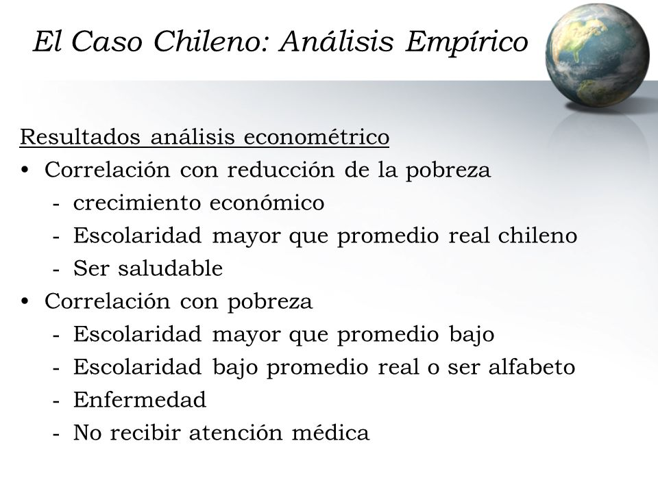 El Caso Chileno: Análisis Empírico