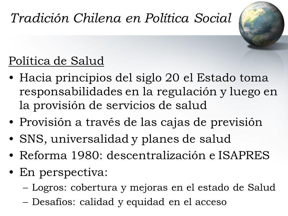Tradición Chilena en Política Social