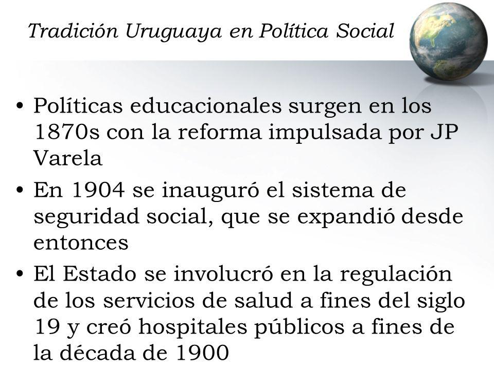 Tradición Uruguaya en Política Social
