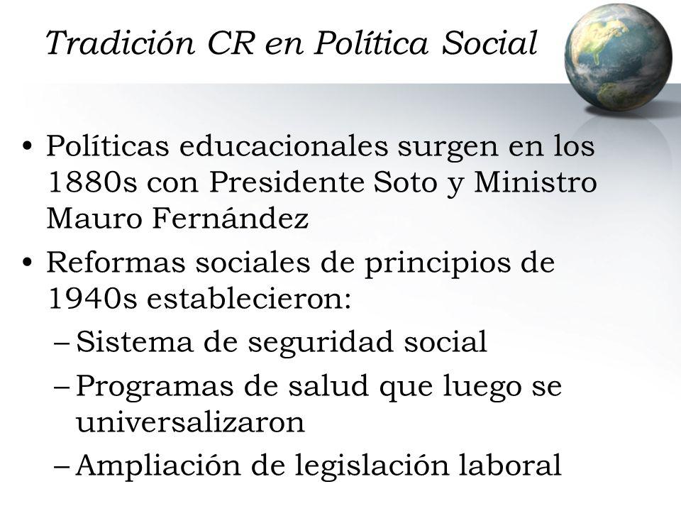Tradición CR en Política Social
