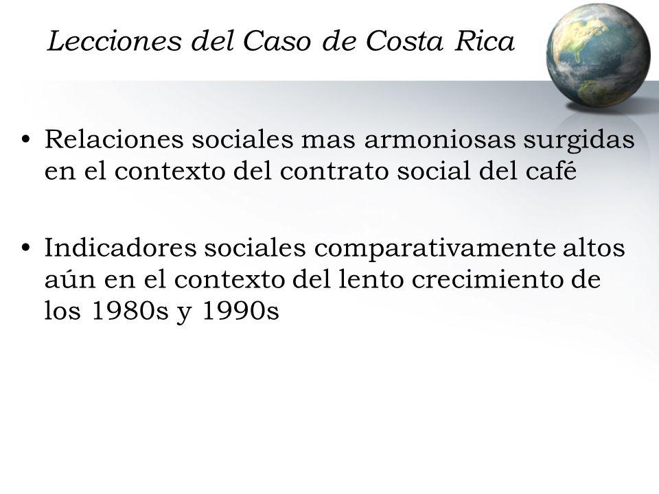Lecciones del Caso de Costa Rica