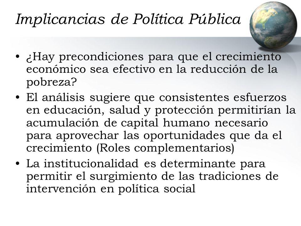 Implicancias de Política Pública