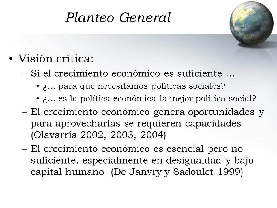Planteo General Visión crítica: