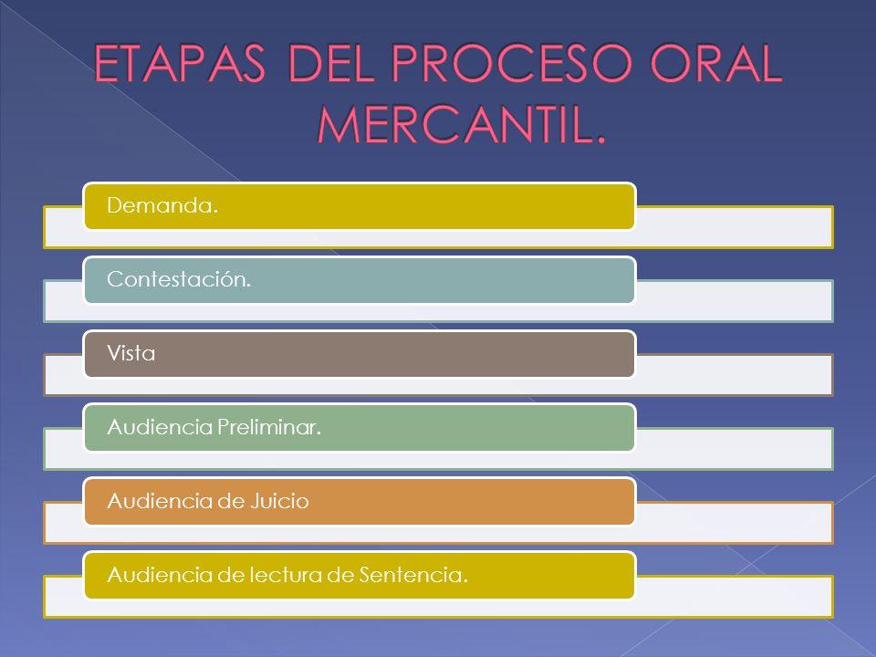 El juicio oral mercantil ppt descargar etapas del proceso oral mercantil ccuart Images