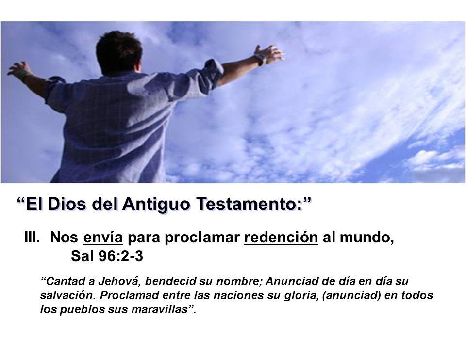 El Dios del Antiguo Testamento: