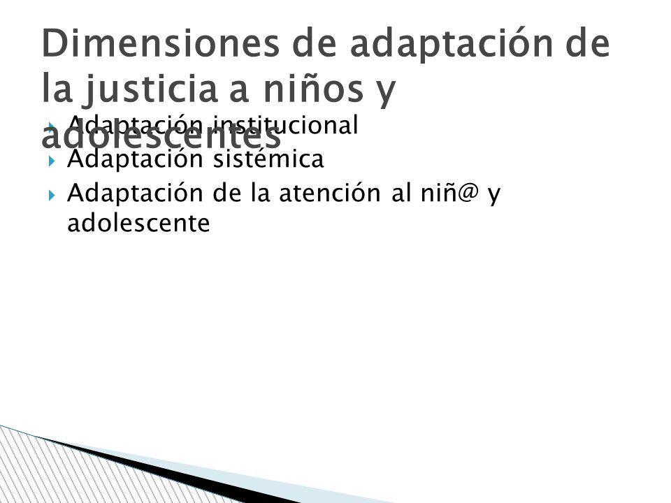 Dimensiones de adaptación de la justicia a niños y adolescentes