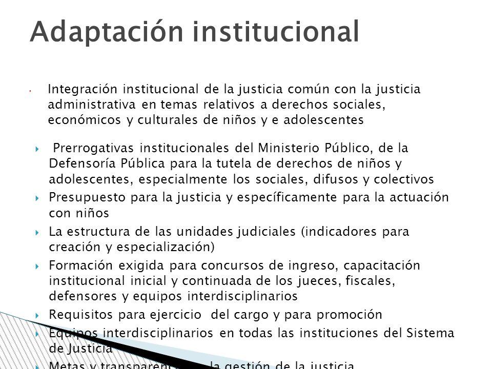 Adaptación institucional