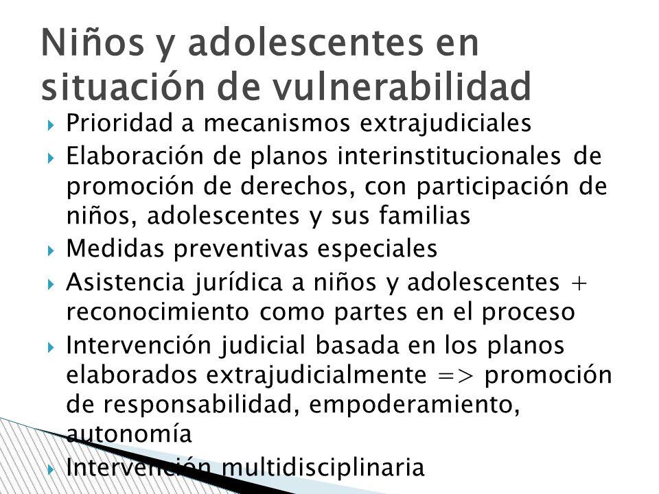 Niños y adolescentes en situación de vulnerabilidad