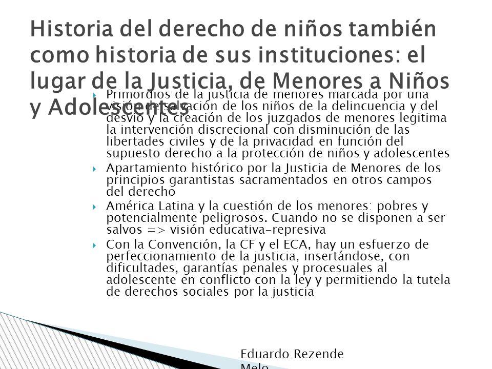 Historia del derecho de niños también como historia de sus instituciones: el lugar de la Justicia, de Menores a Niños y Adolescentes