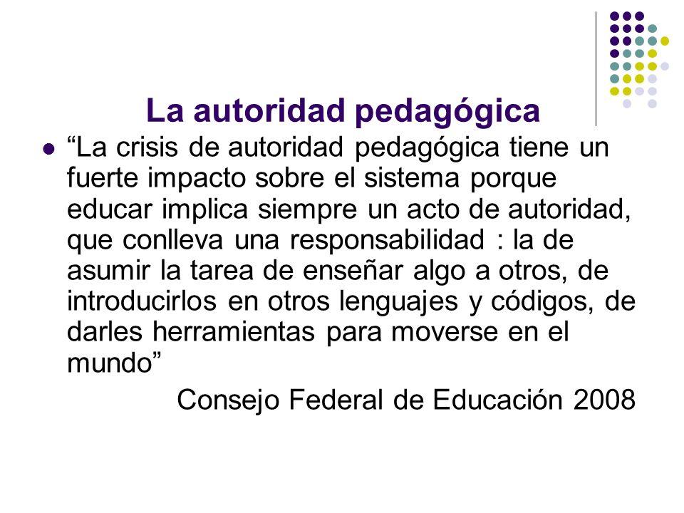 La autoridad pedagógica