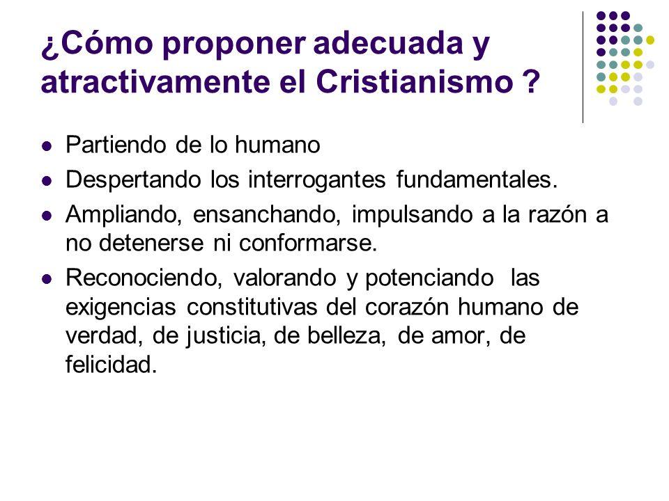 ¿Cómo proponer adecuada y atractivamente el Cristianismo