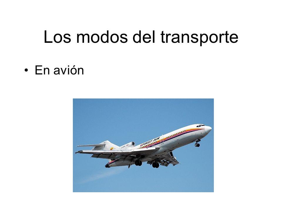 Los modos del transporte