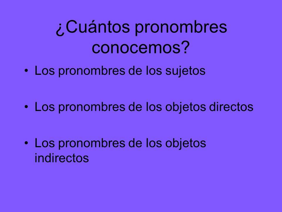¿Cuántos pronombres conocemos
