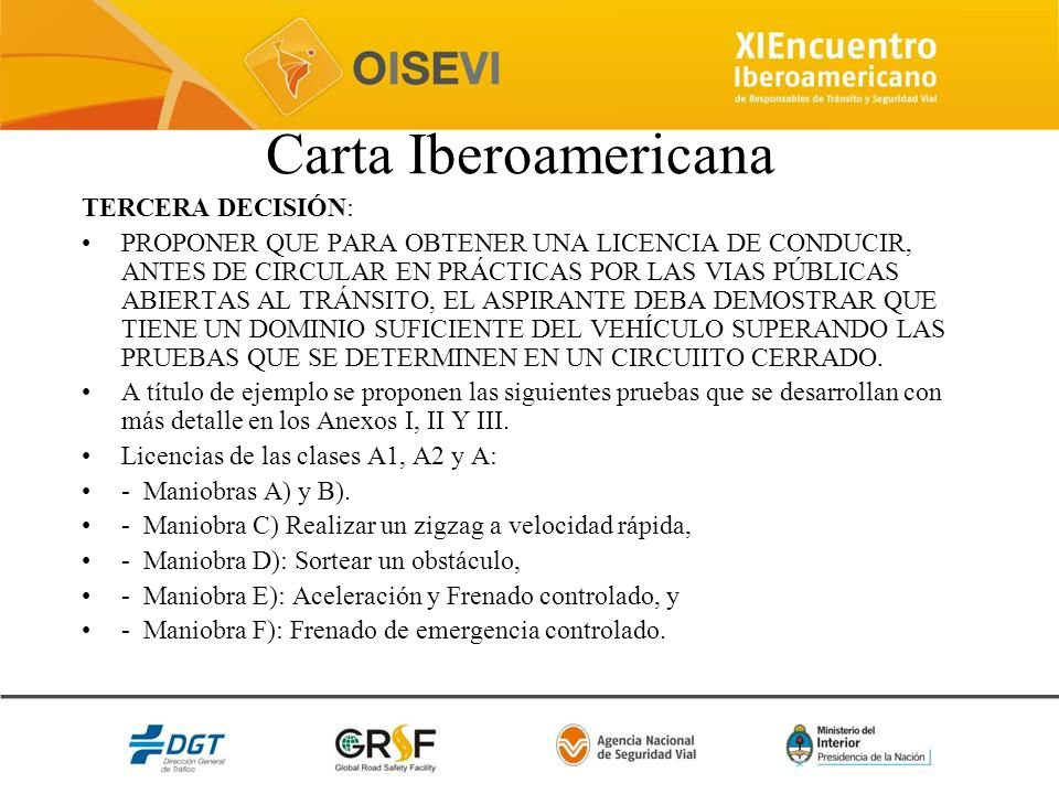 Carta Iberoamericana TERCERA DECISIÓN: