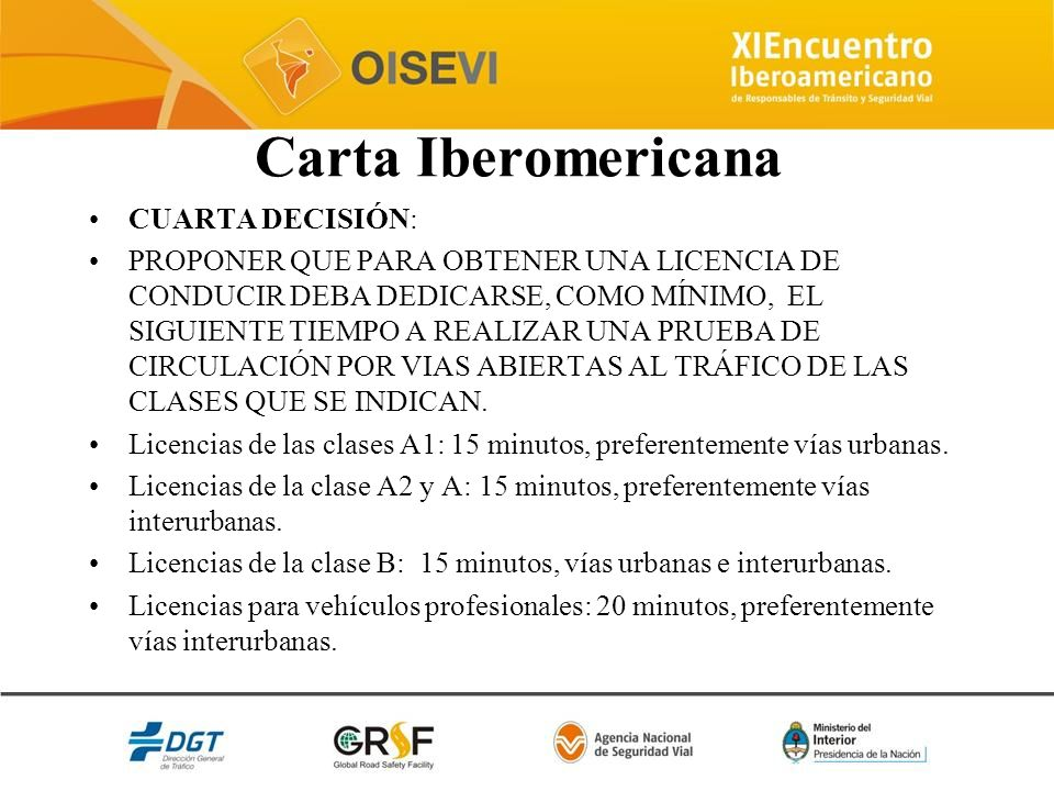 Carta Iberomericana CUARTA DECISIÓN: