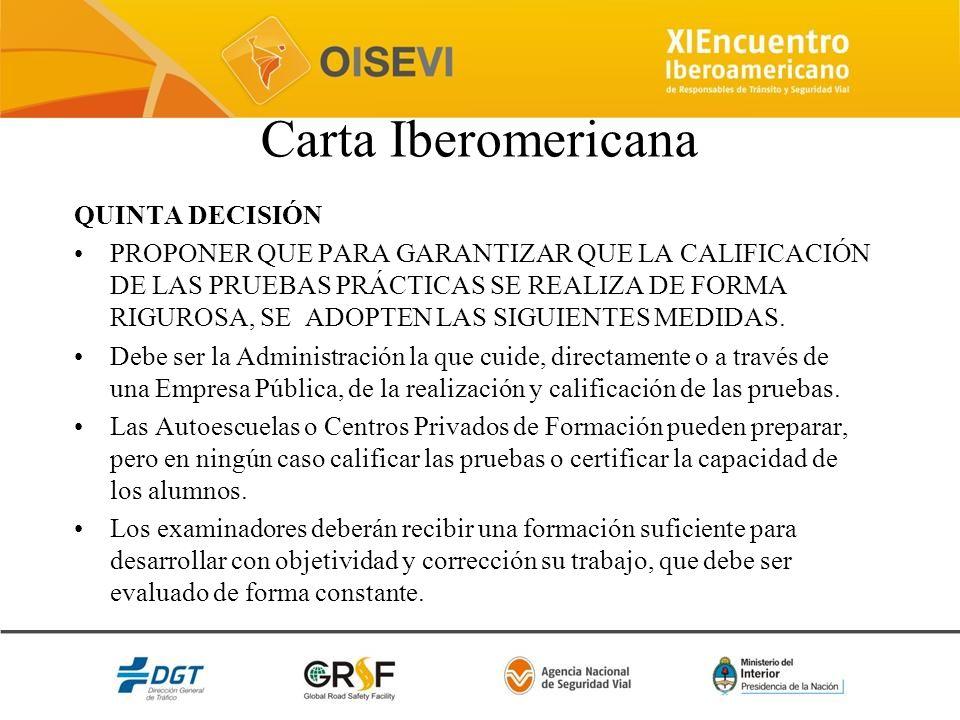 Carta Iberomericana QUINTA DECISIÓN