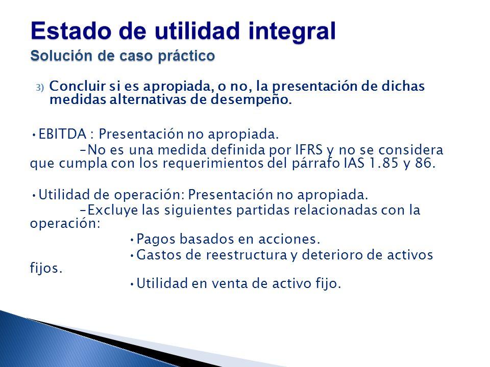 Estado de utilidad integral Solución de caso práctico