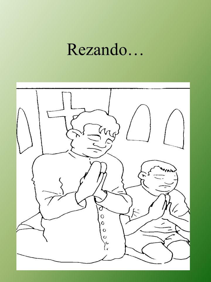 Rezando…