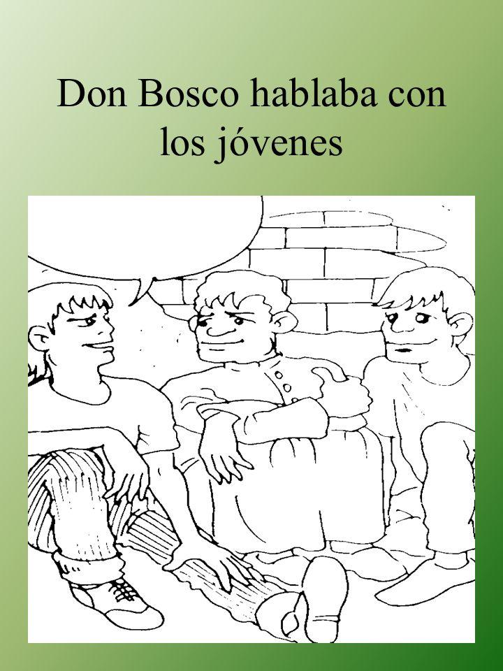 Don Bosco hablaba con los jóvenes