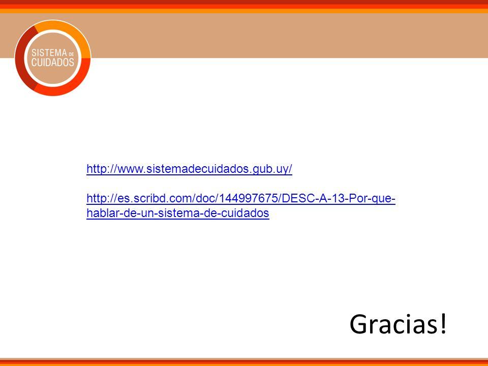 Gracias! http://www.sistemadecuidados.gub.uy/
