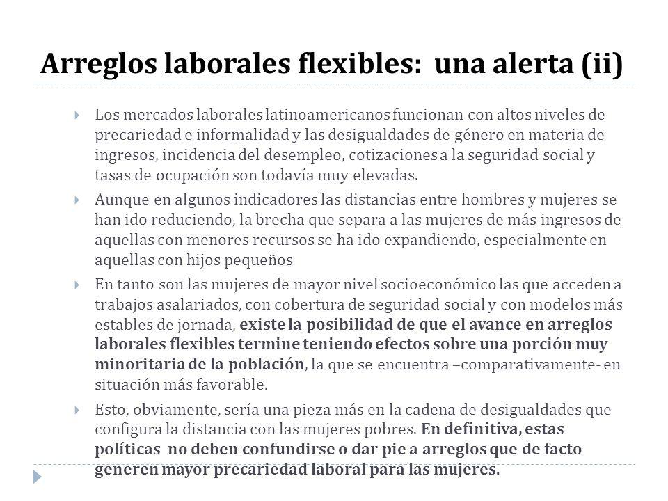 Arreglos laborales flexibles: una alerta (ii)