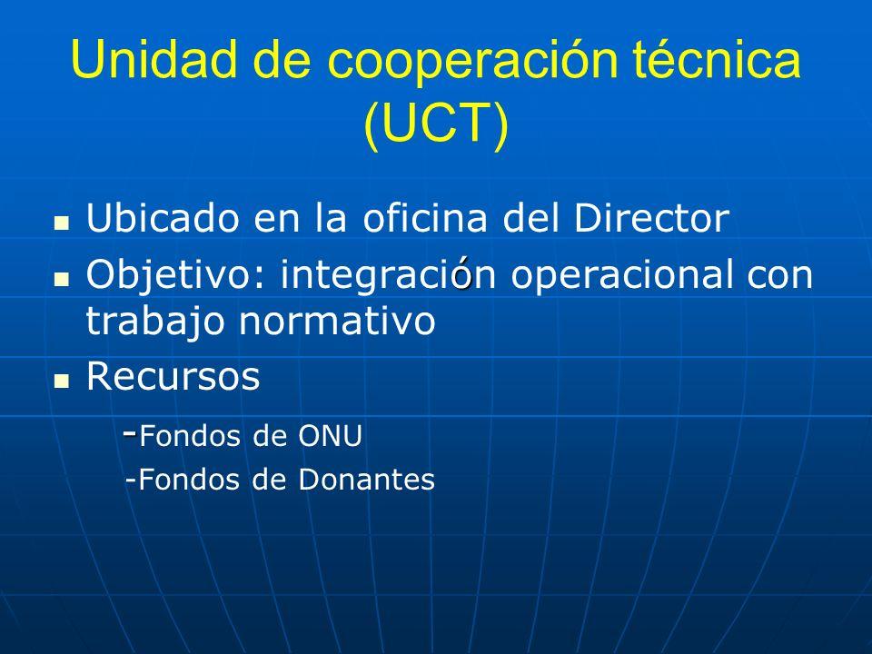 Unidad de cooperación técnica (UCT)