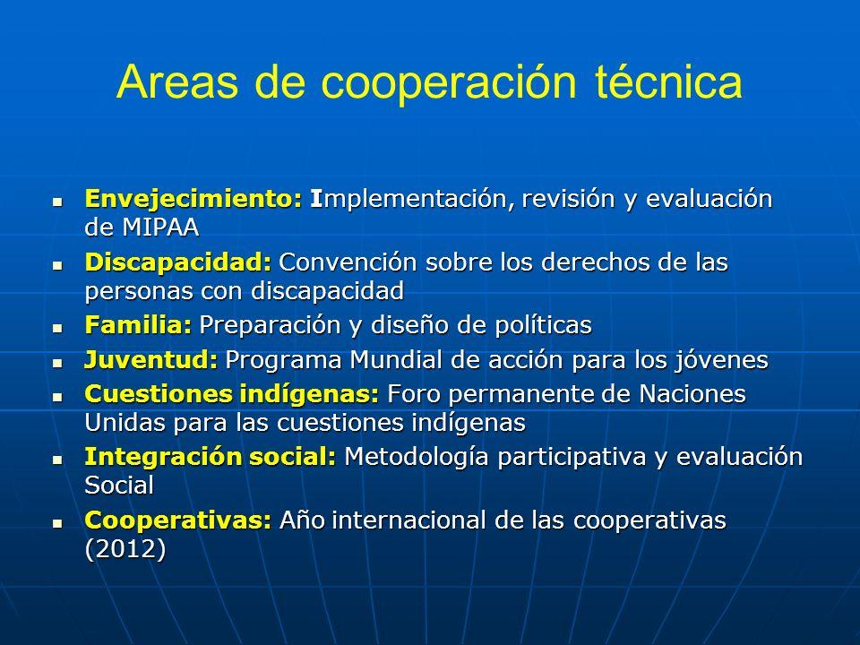 Areas de cooperación técnica