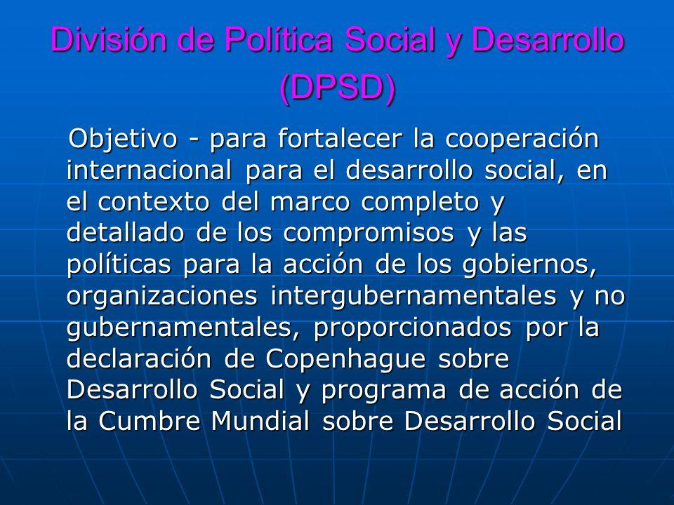 División de Política Social y Desarrollo (DPSD)
