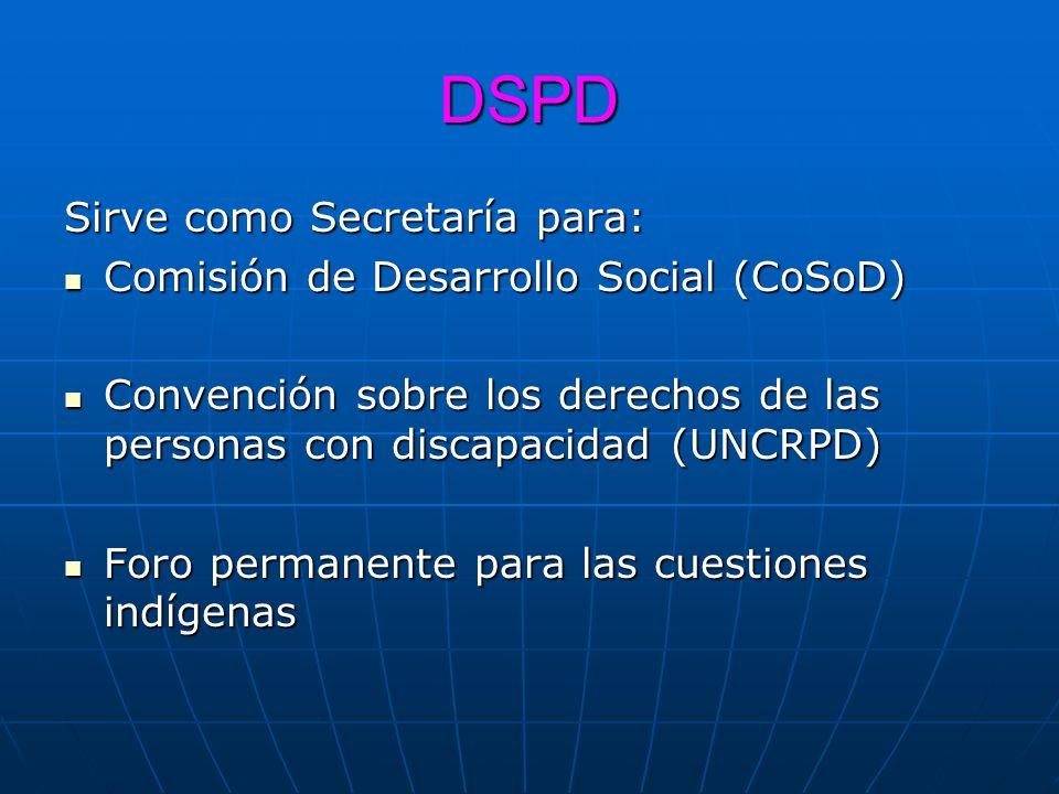 DSPD Sirve como Secretaría para: Comisión de Desarrollo Social (CoSoD)