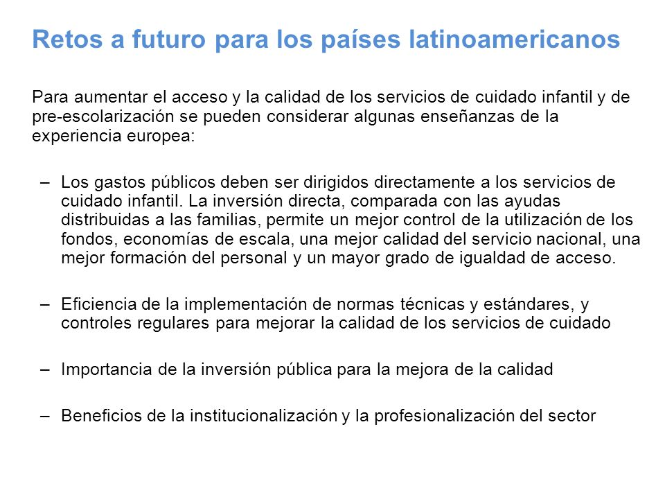Retos a futuro para los países latinoamericanos
