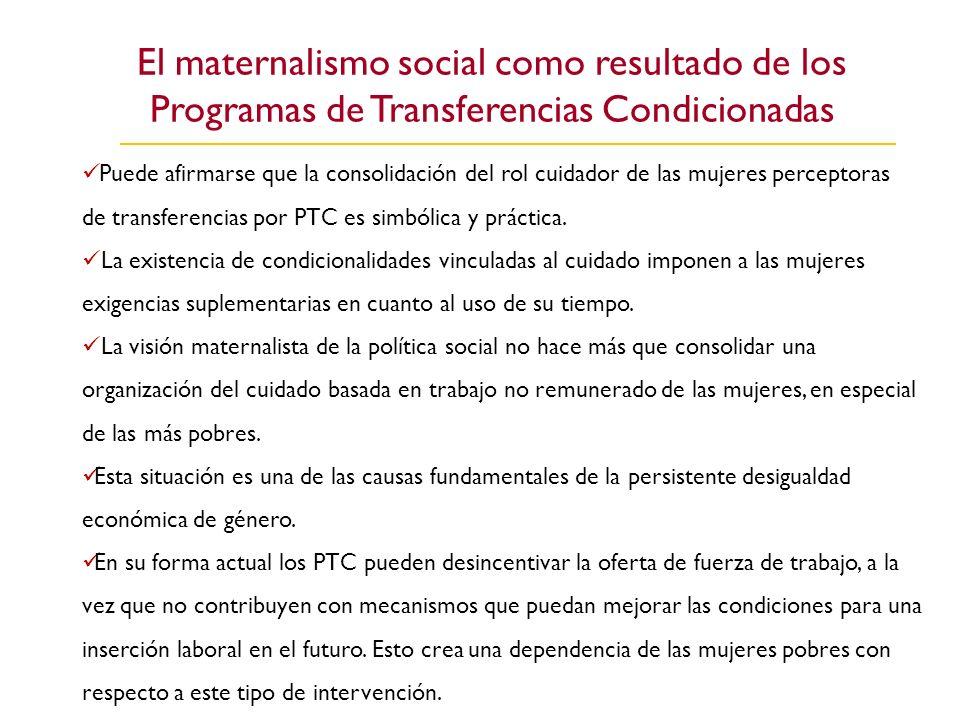 El maternalismo social como resultado de los Programas de Transferencias Condicionadas