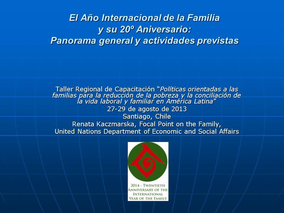 El Año Internacional de la Familia y su 20º Aniversario: Panorama general y actividades previstas