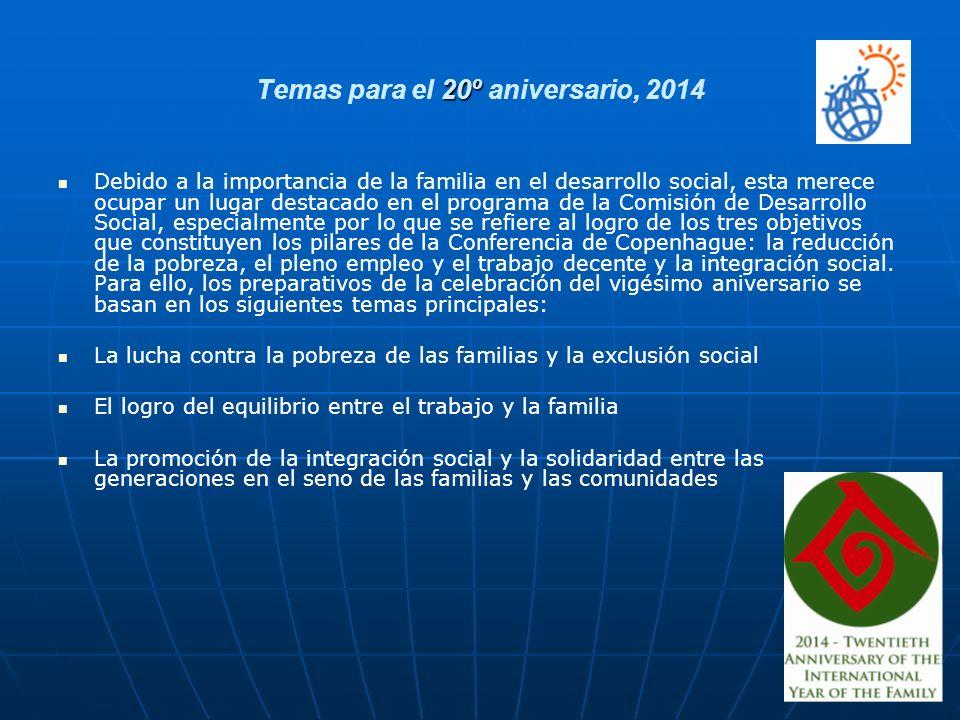 Temas para el 20º aniversario, 2014