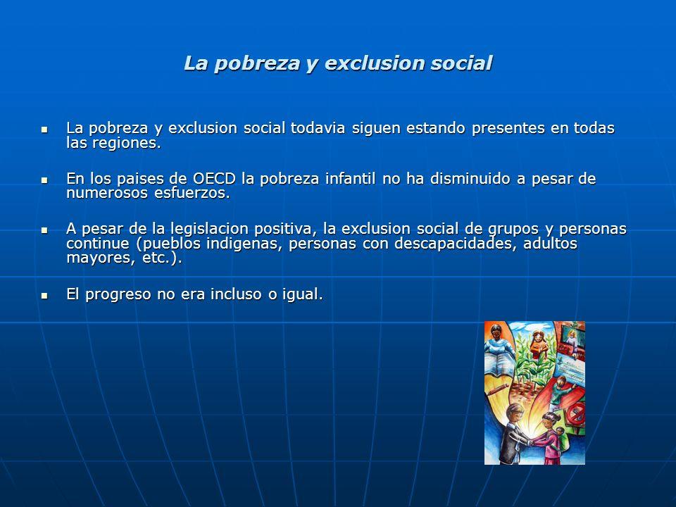La pobreza y exclusion social