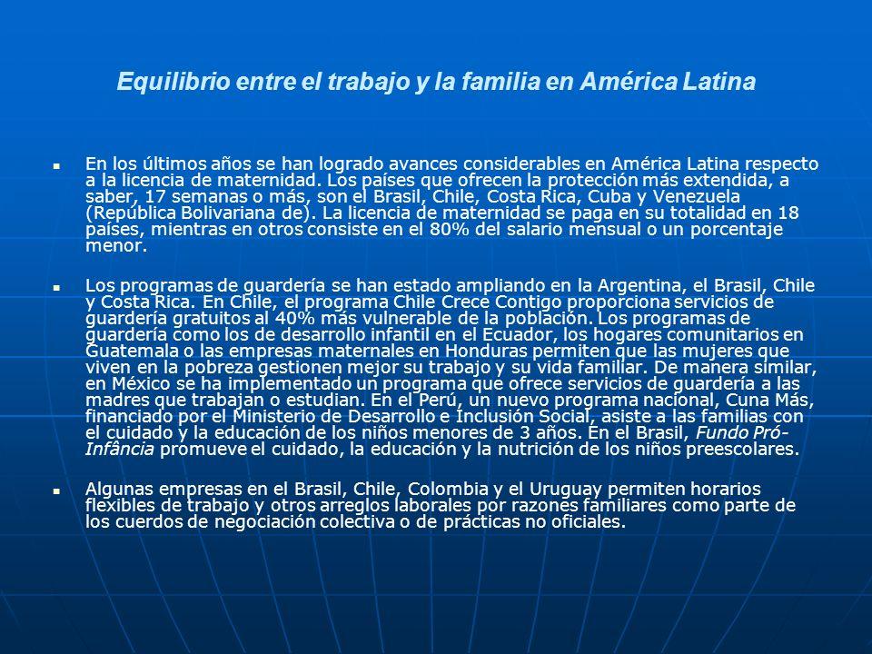 Equilibrio entre el trabajo y la familia en América Latina