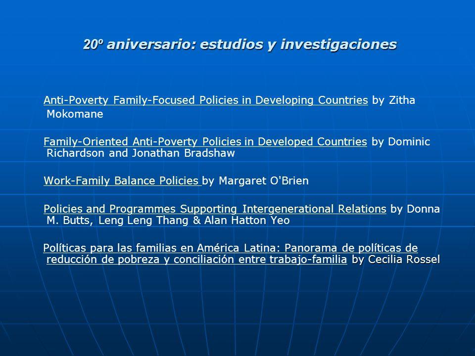20º aniversario: estudios y investigaciones