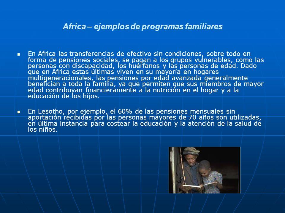 Africa – ejemplos de programas familiares