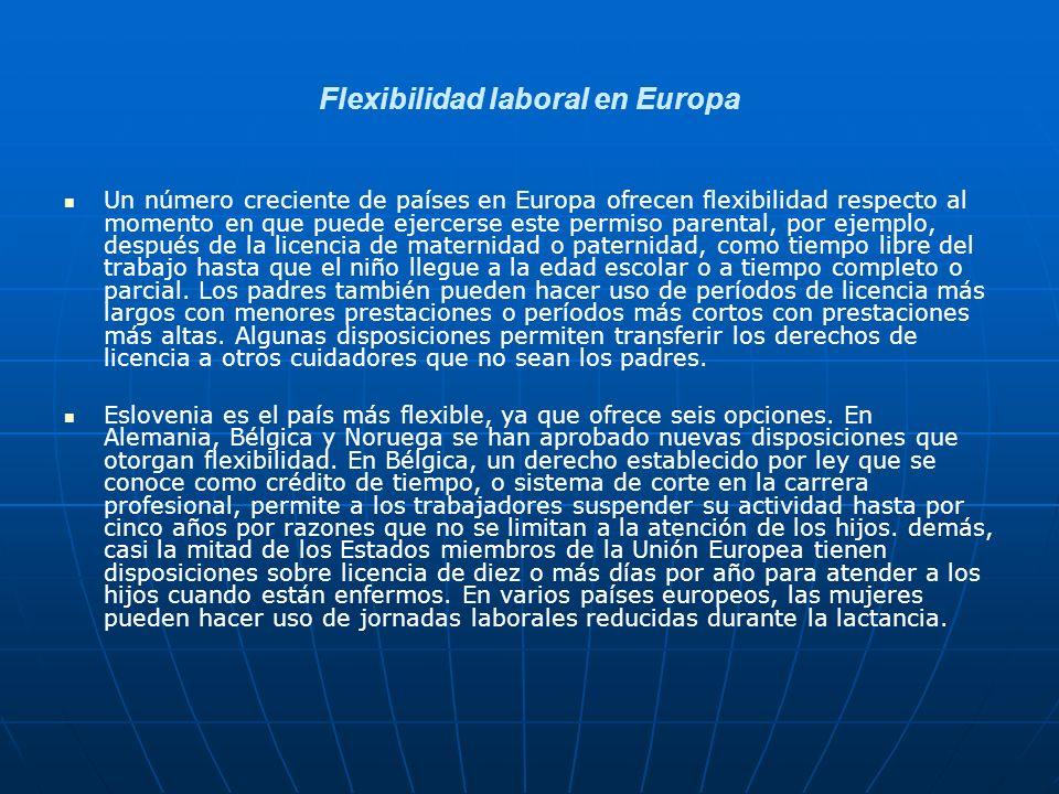 Flexibilidad laboral en Europa