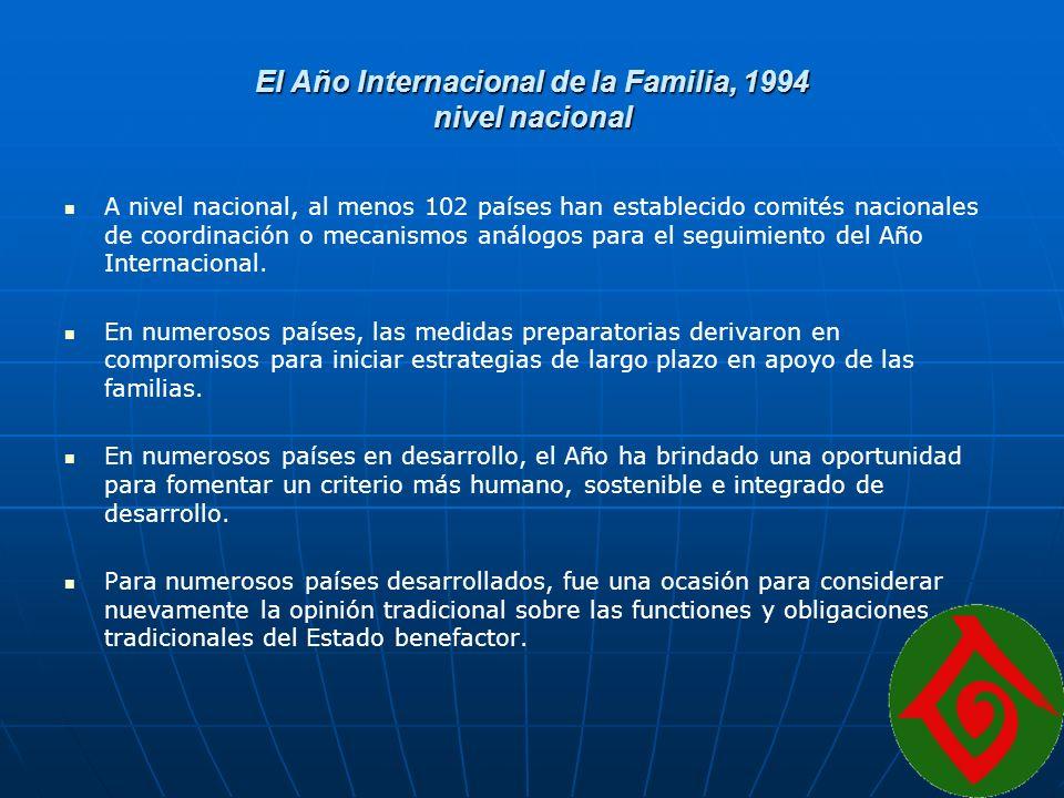 El Año Internacional de la Familia, 1994 nivel nacional