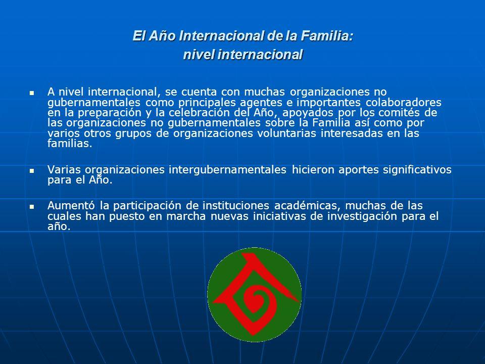 El Año Internacional de la Familia: nivel internacional
